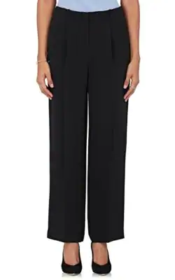 The Row Firth Pleated Silk Pants In Black