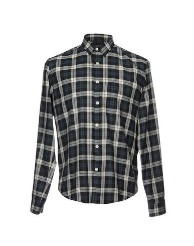 Theory Checked Shirt In Black