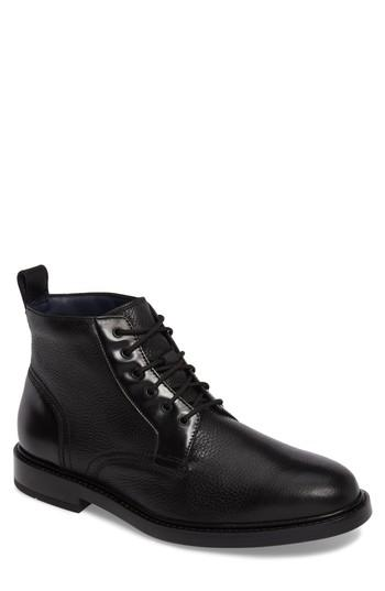 Cole Haan Men's Adams Grand Demiboot Leather Boots In Black Leather