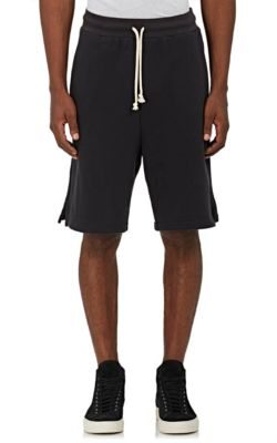 John Elliott Cotton Terry Oversized Shorts In Charcoal