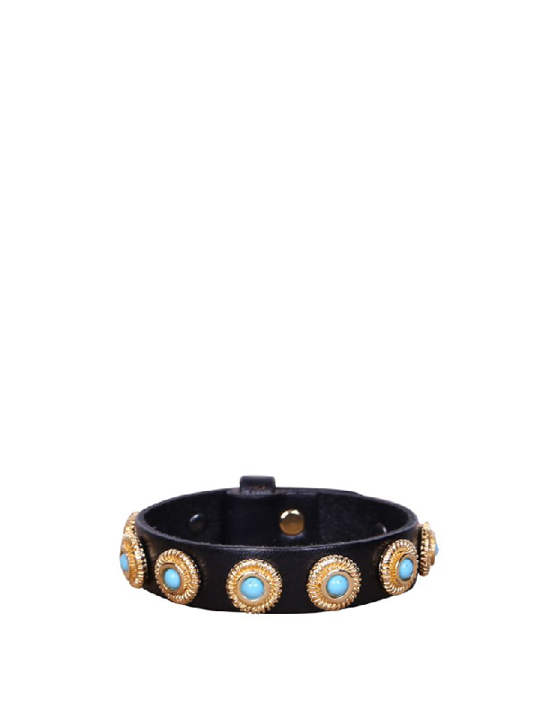 Dodo Bar Or Linda Leather Bracelet In Multicolor