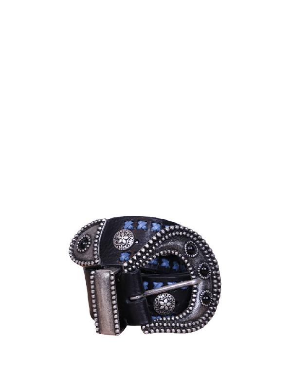 Dodo Bar Or Leather Belt In Multicolor