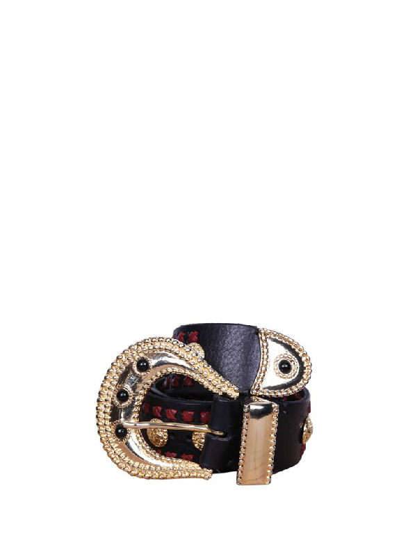 Dodo Bar Or Gabrielle Leather Belt In Multicolor