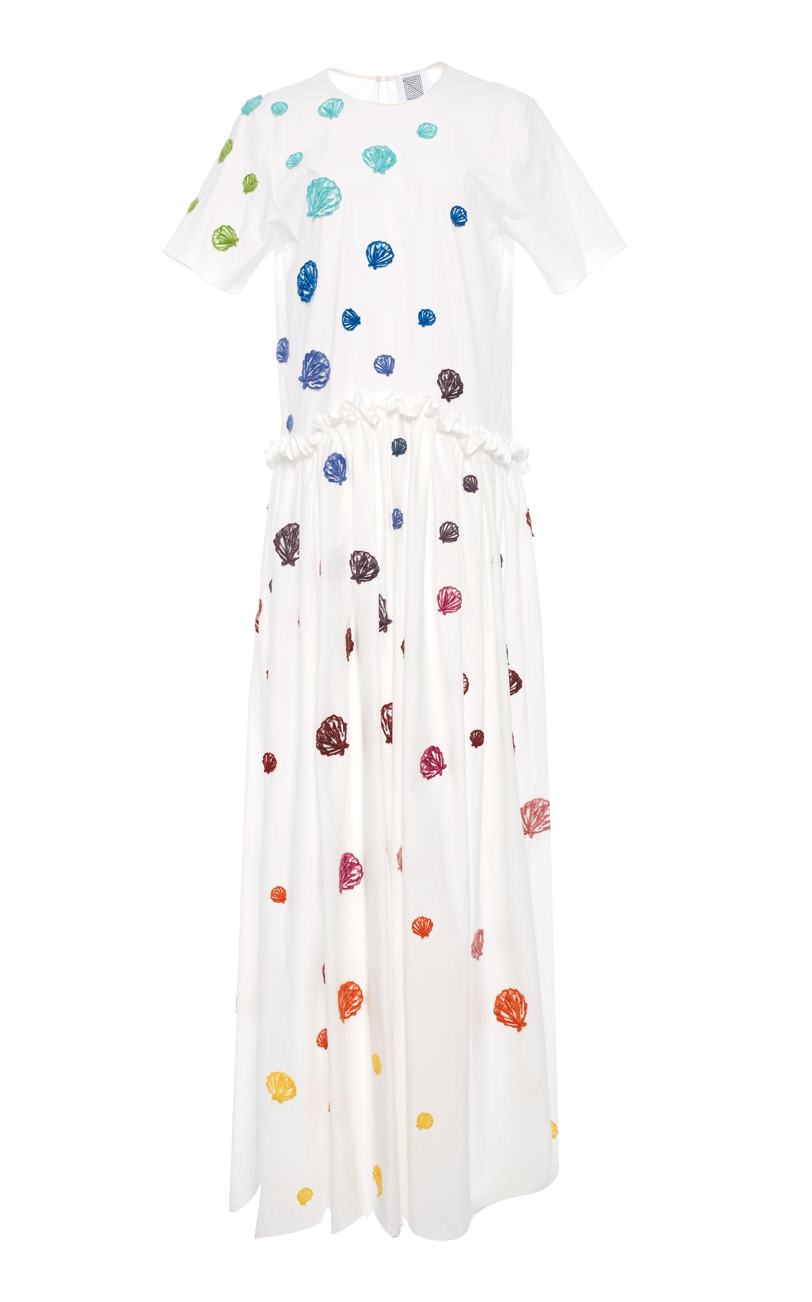 Rosie Assoulin Ebbs And Flows Dress In White