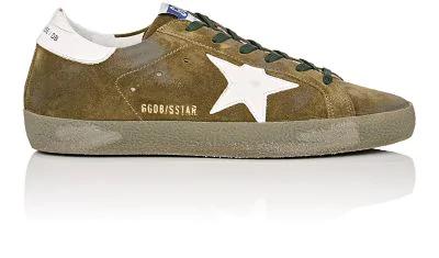 Golden Goose Superstar Suede & Leather Sneakers In Dk. Green