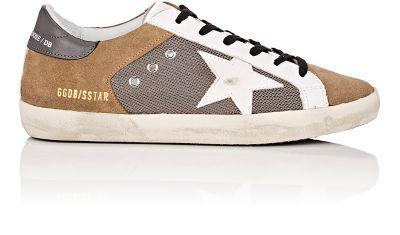 Golden Goose Superstar Mixed-Material Sneakers - Gray