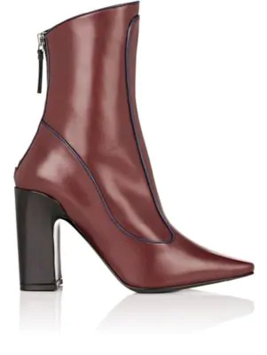Fabrizio Viti Winter Timeless Leather Ankle Boots In Wine