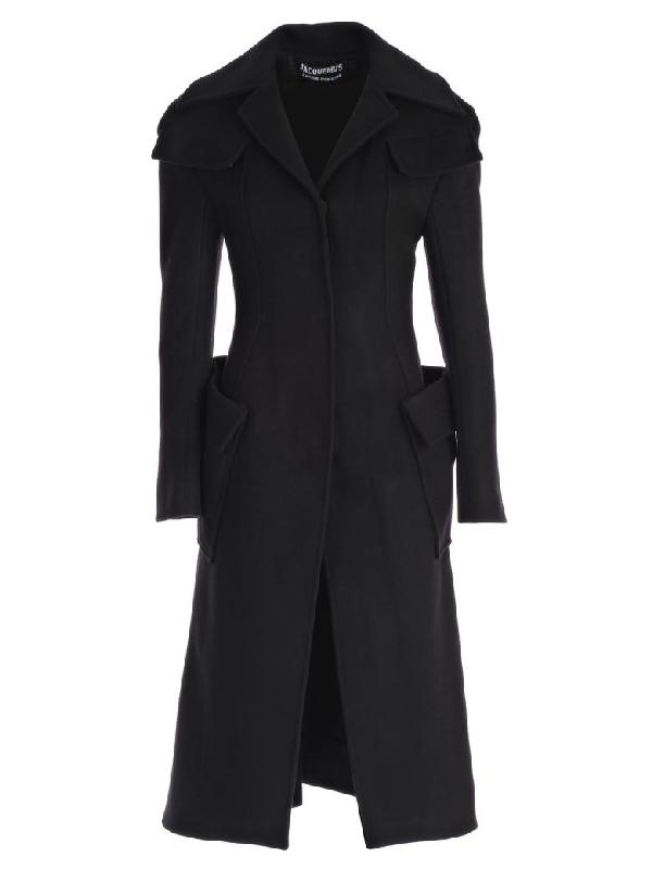 Jacquemus Le Manteau Cintre Cappotto M/l In Black