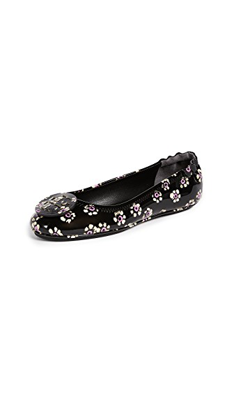 81ff08d98 Tory Burch Women's Minnie Patent Leather Travel Ballet Flats In ...