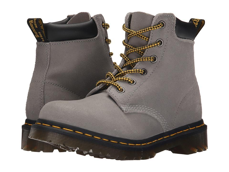b19346fb0c8 Dr. Martens - 939 6-Eye Hiker Boot (Concrete Greasy Suede) Women's Lace-Up  Boots