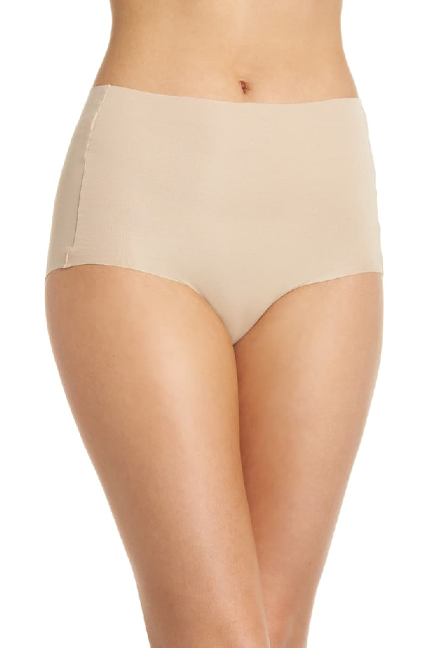 Wacoal Beyond Naked Clean-Cut Ribbed Brief 870359 In Sand