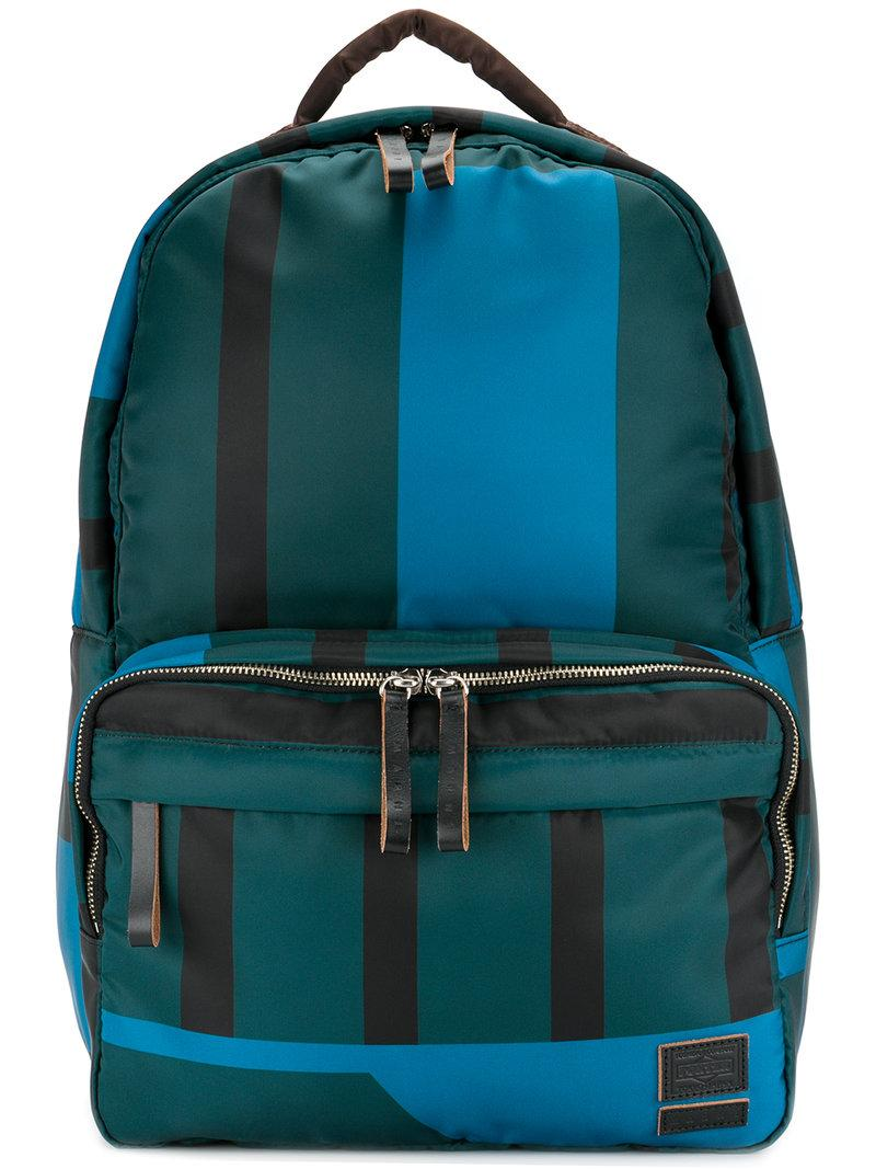 6cc714c46 Marni X Porter Striped Backpack - Green | ModeSens