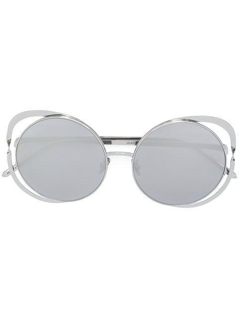 Linda Farrow Cat Eye Sunglasses - Metallic