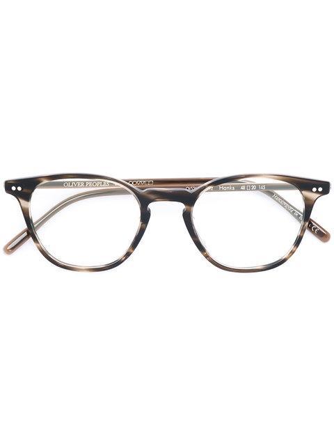 Oliver Peoples Hanks Round Frame Glasses In Brown