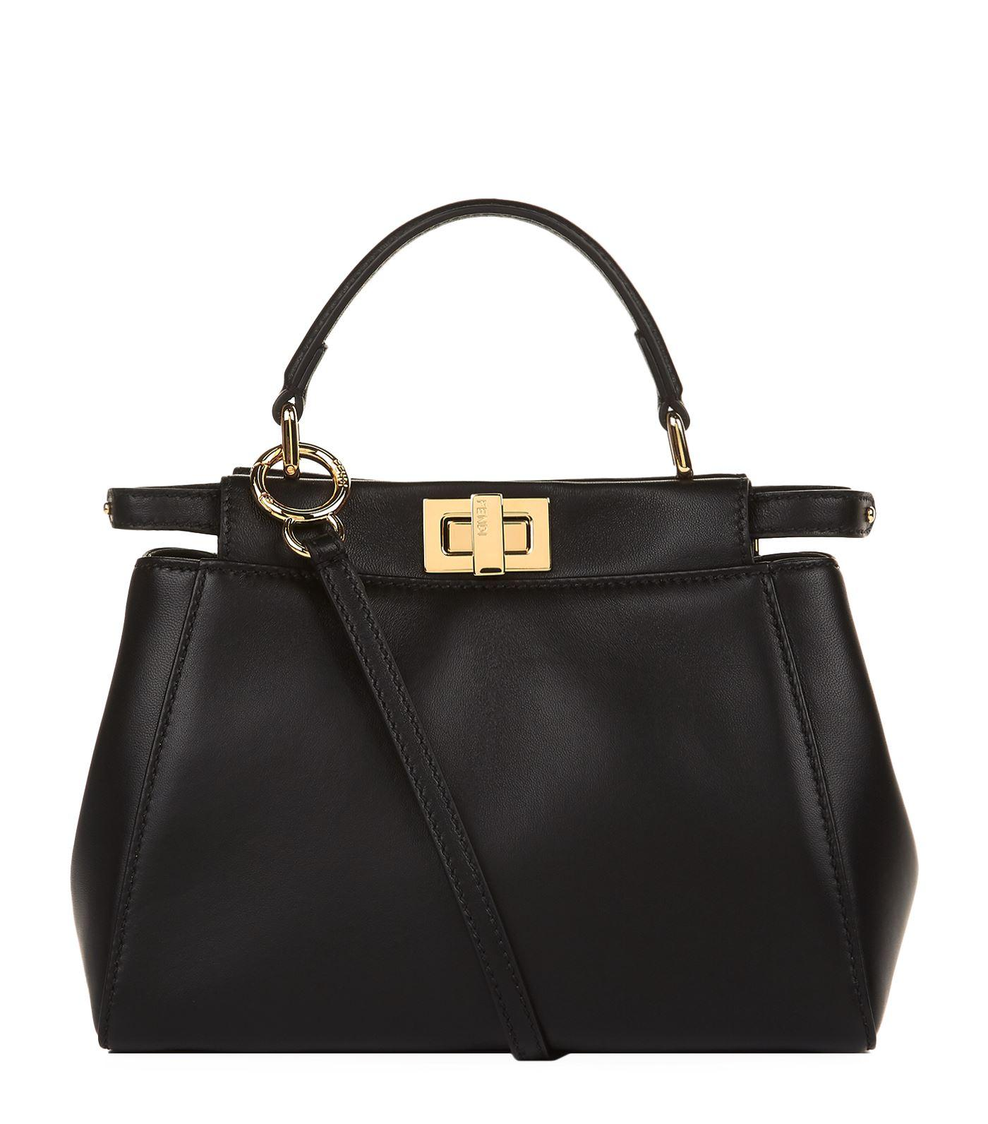 47fd2fd5be Fendi Mini Peekaboo Leather Bag, White, One Size | ModeSens