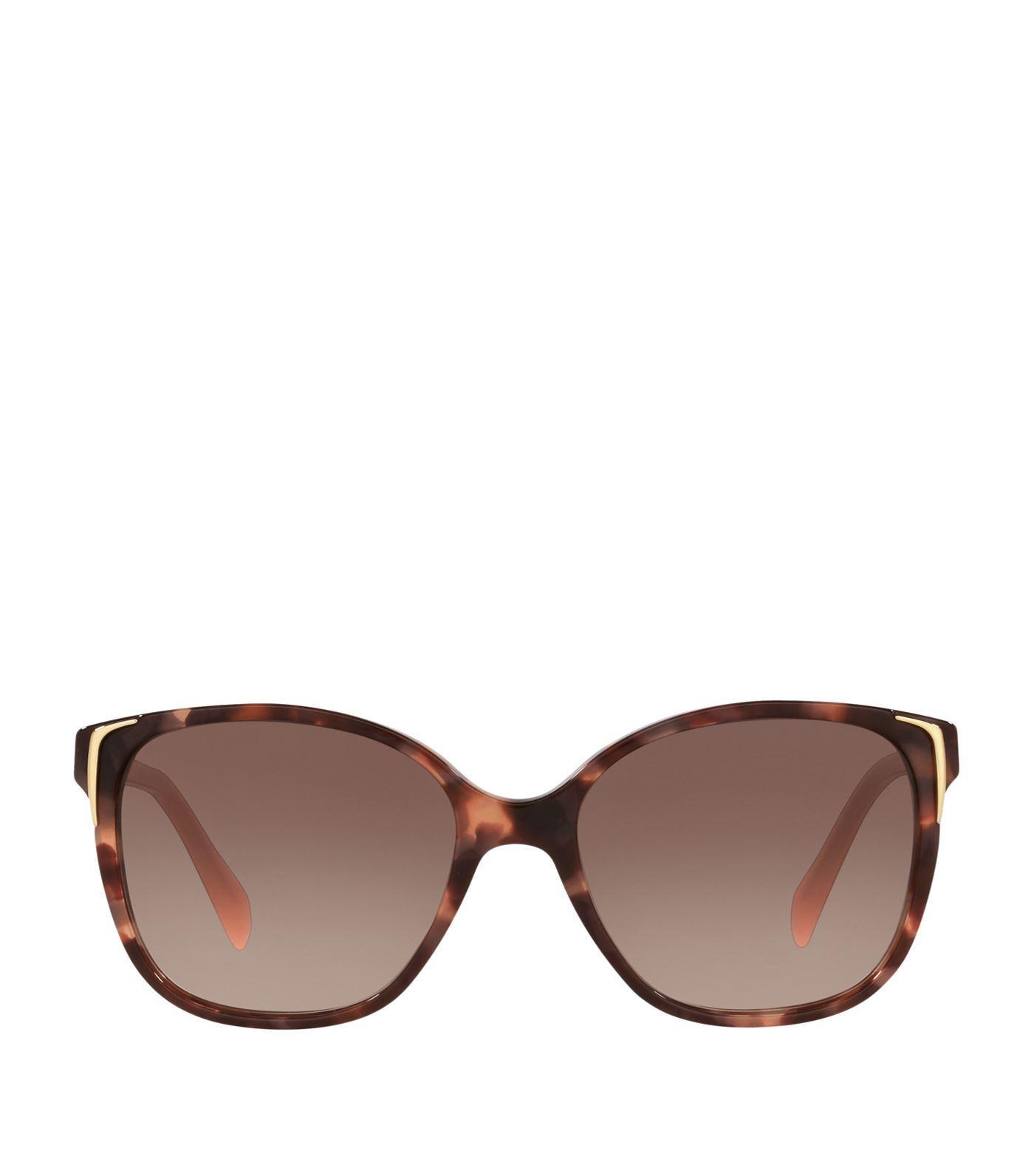 747056ccdedd9 Prada Oversized Tortoiseshell Sunglasses In Pink