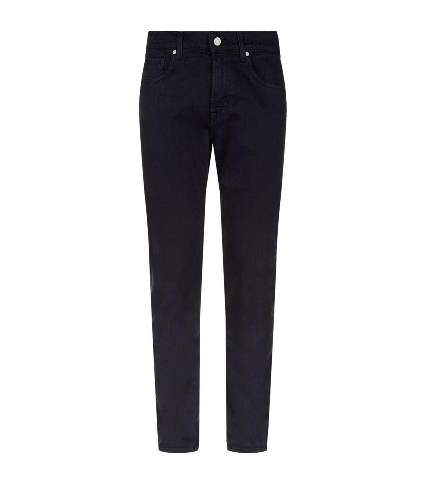 7 For All Mankind Slimmy Luxe Performance Jeans In Navy