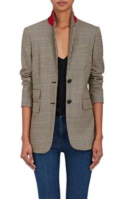 Rag & Bone Rona Two-Button Plaid Wool Blazer In Multi