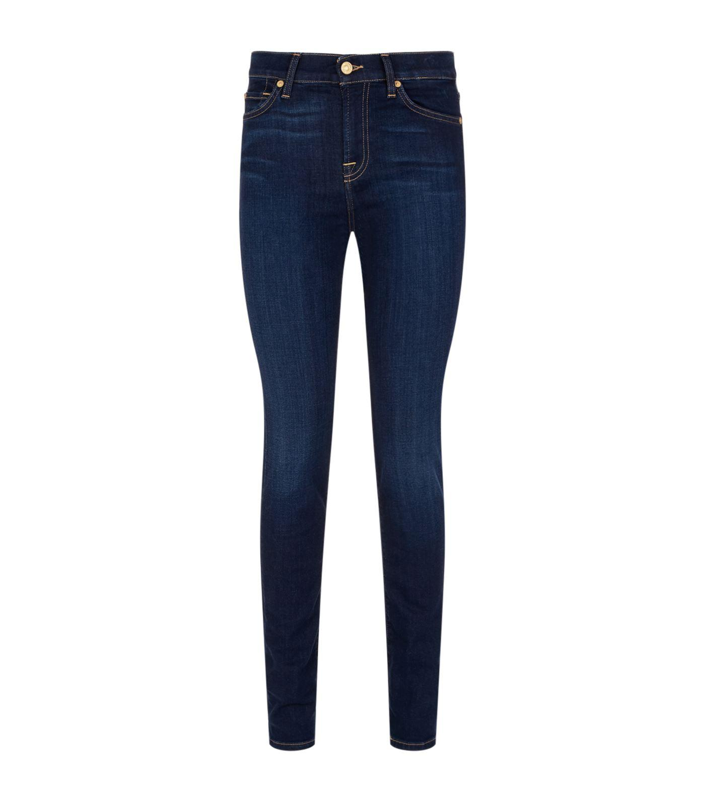 7 For All Mankind Roxanne Straight Leg Jeans In Blue