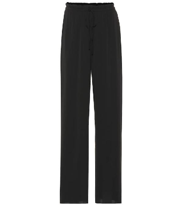 The Row Pepita Cashmere-Silk Sweatpants In Black