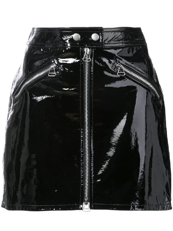 b909a7e026 Rag & Bone Patent Leather Miniskirt - Black | ModeSens