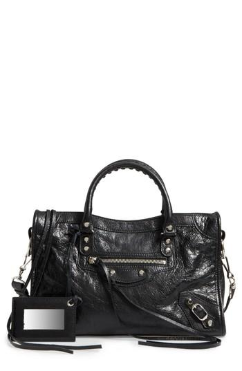 889120652baf8 Balenciaga Small Classic City Leather Tote - Black In Pink | ModeSens