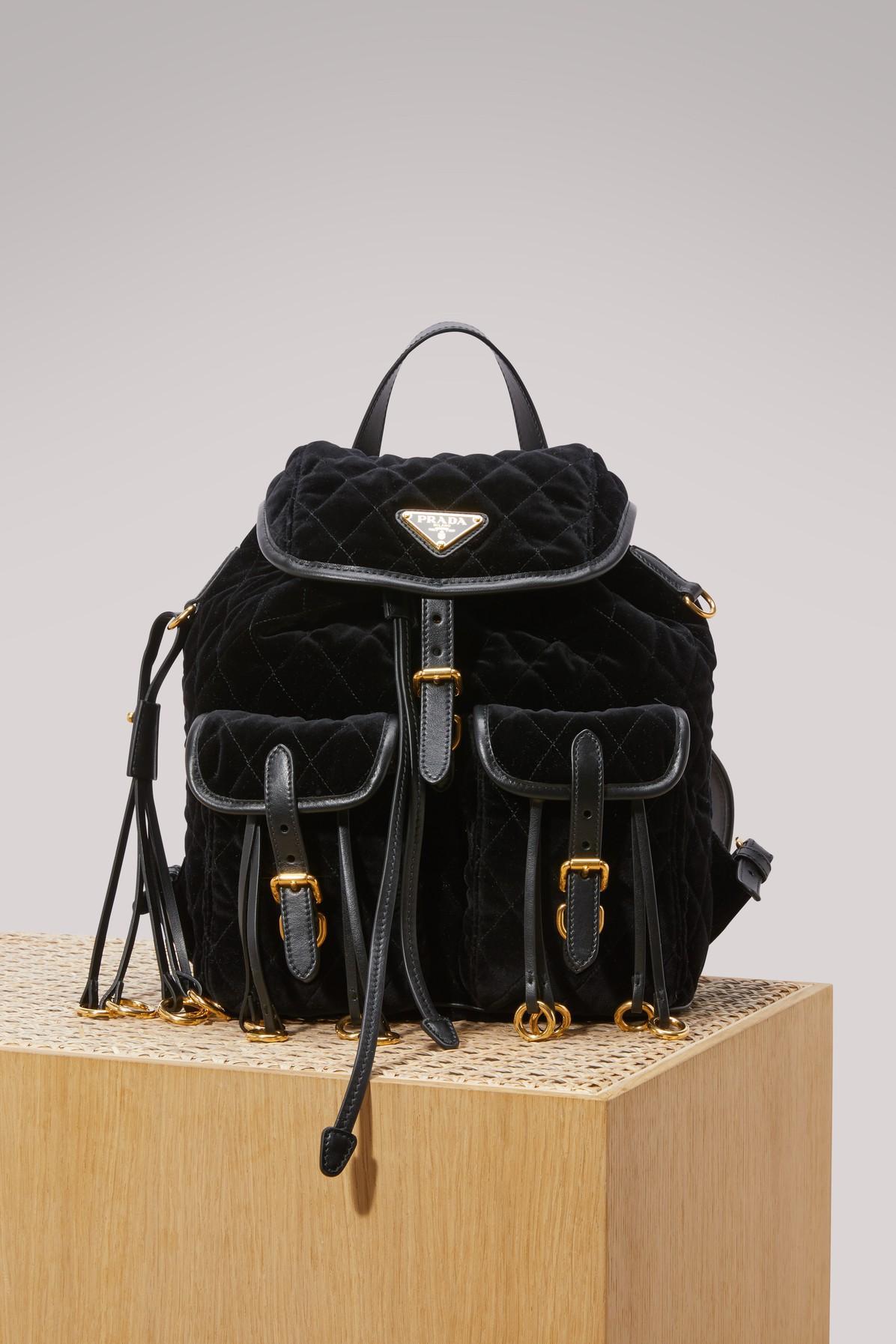 6dbdcf43f52d Prada Velvet Backpack | ModeSens