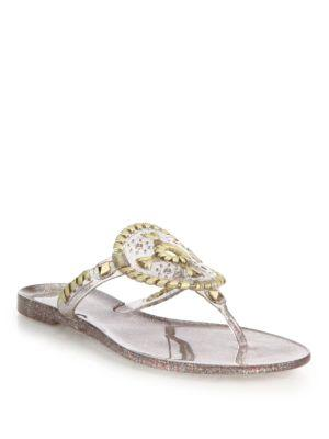 8cde1f58ade Jack Rogers Sparkle Georgica Jelly Thong Sandals In Multi Jelly ...