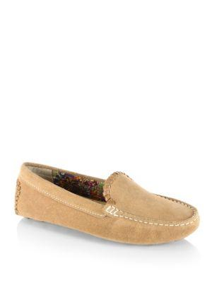 Jack Rogers Taylor Suede Drivers In Acorn