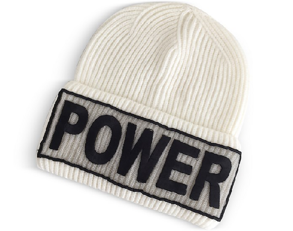 acabe924b03 Versace Power Manifesto White Wool Knit Hat