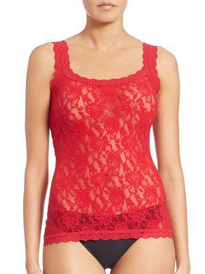 Hanky Panky Floral Lace Camisole In Red