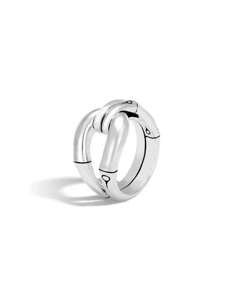 John Hardy Sterling Silver Interlocked Bamboo Ring