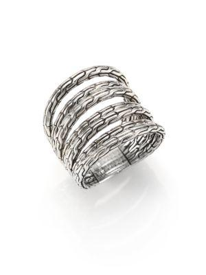 John Hardy Classic Chain Sterling Silver Multi-Band Ring