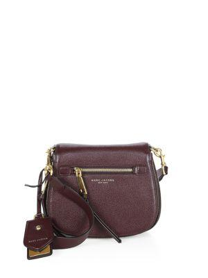 f79237bb953f Marc Jacobs Small Recruit Nomad Pebbled Leather Crossbody Bag - Purple In  Blackberry