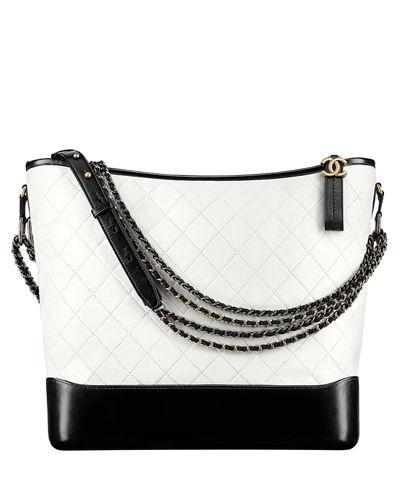 70fd2e520f84 Chanel 's Gabrielle Large Hobo Bag In White/Black | ModeSens