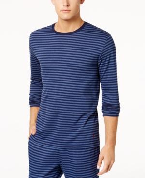 38f6b8ca39 Polo Ralph Lauren Men's Supreme Comfort Cotton Pajama Shirt In Shale Blue  Heather Cruise Navy