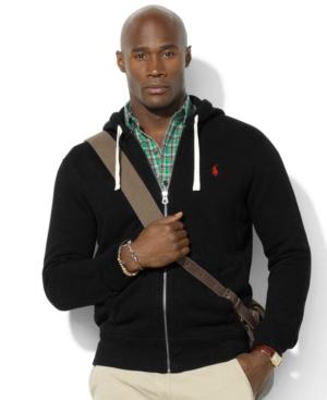 Polo Ralph Lauren Men's Big And Tall Classic Fleece Full Zip Hoodie In Polo Black