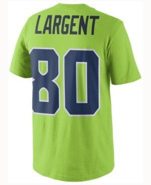 buy online 11b96 26949 Men's Steve Largent Seattle Seahawks Color Rush Name & Number T-Shirt in  Lime