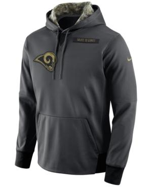 Nike Men's Los Angeles Rams Salute To Service Hoodie In Anthracite