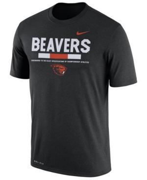Nike Men's Oregon State Beavers Legend Staff Sideline T-Shirt In Black