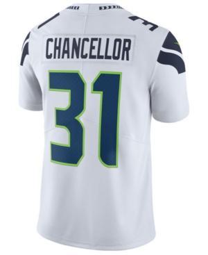 Nike Men's Kam Chancellor Seattle Seahawks Vapor Untouchable Limited Jersey In White