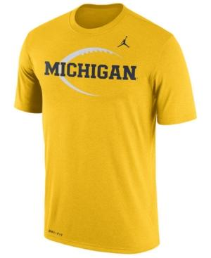 Nike Men's Michigan Wolverines Legend Icon T-Shirt In Yellow