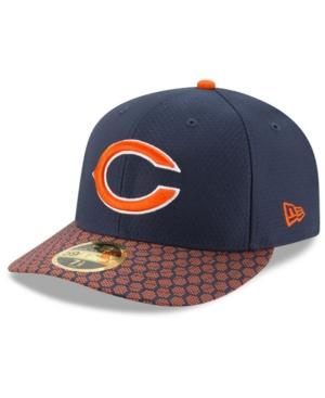8d023f5848d770 New Era Chicago Bears Sideline Low Profile 59Fifty Fitted Cap In Navy/Orange