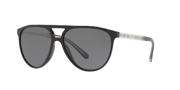 321f41b55a15 Burberry 58Mm Polarized Aviator Sunglasses - Black/ Polar In Black ...