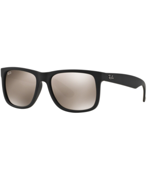 Ray Ban Sunglasses Rb4165 Justin Mirror In Black Gold Mirror