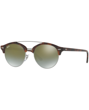Ray Ban Ray-ban Sunglasses, Rb4346 Clubround Double Bridge In 62519j