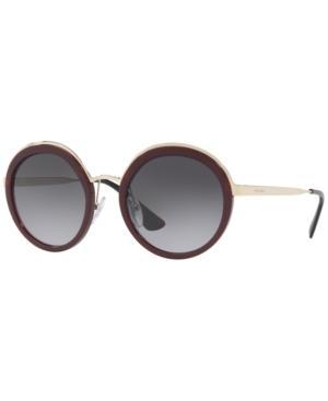 Prada Sunglasses, Pr 50Ts In Burgundy/Grey Gradient Polar