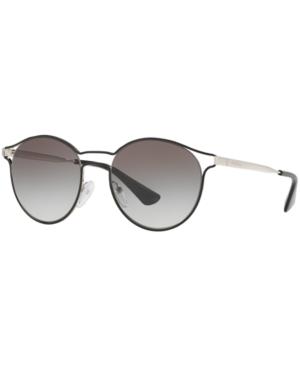 Prada Sunglasses, Pr 62Ss Cinema In Black Silver/Grey Gradient