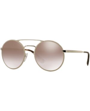 Prada Sunglasses, Pr 51Ss In Silver/Brown Mirror