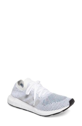 d2c56b82736c3 Adidas Originals Swift Run Primeknit Training Shoe In White/ Off White/  Core Black